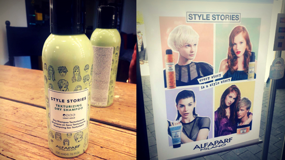 Picture of Texturising Dry Shampoo coupled with Style Stories sign in front of House of Style.